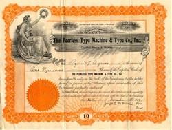 Peerless Type Machine & Type Co., Inc. - Maryland 1917