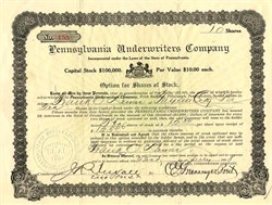 Pennsylvania Underwriters Company - Pittsburgh, Pennsylvania 1908