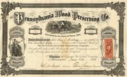 Pennsylvania Wood Preserving Company - 1869