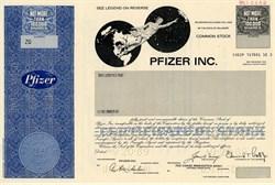 Pfizer Inc. Specimen - Delaware 1989