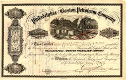 Philadelphia and Boston Petroleum Company - Venango County, Philadelphia 1915