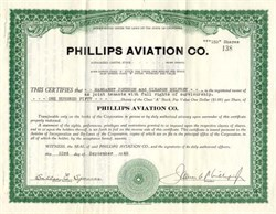 Phillips Aviation Co. - California 1940