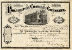 Philadelphia Chamber of Commerce - Pennsylvania 1888