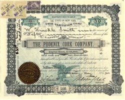 Phoenix Cork Company - New York 1901