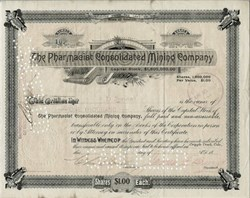 Pharmacist Consolidated Mining Company (Issued to A.D. Jones and signed by Jones on verso) -  Cripple Creek Gold Mining District, Colorado 1899