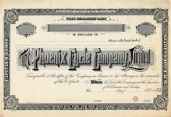 Phoenix Cycle Company Limited (Phoenix Bicycle Company, ) -  Pennsylvania 1892
