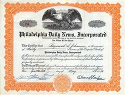 Philadelphia Daily News, Incorporated - Delaware 1956