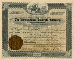 Physiological Elements Company - District of Columbia 1907