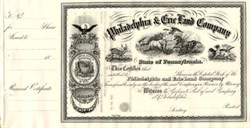 Philadelphia & Erie Land Company - Pennsylvania 1860's