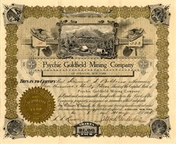 Psychic Goldfield Mining Company - Territory of Arizona - Syracuse, New York 1908