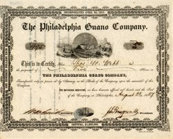 Philadelphia Guano Company - 1857
