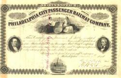 Philadelphia City Passenger Railway Company 1874