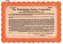 Philadelphia Fairfax Corporation
