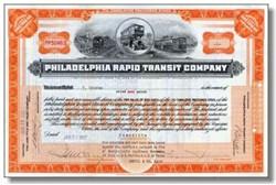 Philadelphia Rapid Transit Company 1920's - Double decker bus vignette