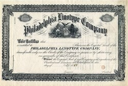 Philadelphia Linotype Company dated 1889
