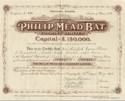 Philip Mead Bat Company - 1923