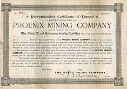 Phoenix Mining Company - Maricopa. Phoenix 1893