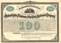 Philadelphia, Newton and New York Railroad Company - Pennsylvania 1873