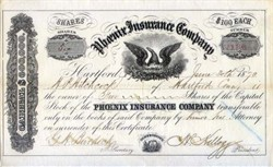 Phoenix Insurance Company 1860's - Travelers / Citigroup