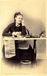 CDV Photo of a Woman Telegraph Operator