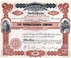 Phonautograph Company 1901 - New Jersey