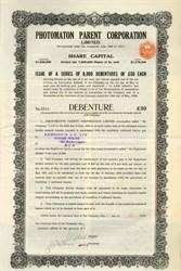 Photomaton Parent Corporation (Fraud during stock market crash) - England 1930