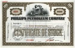 Phillips Petroleum Company Specimen Stock Certificate - Delaware