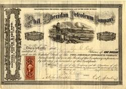 Phil. Sheridan Petroleum Company - Venango County, Pennsylvania 1865