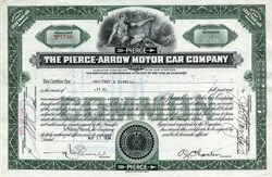 Pierce - Arrow Motor Car Company - New York 1934