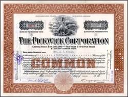 Pickwick Corporation 1928 - California