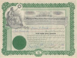 Picture Machine Service Corporation 1922