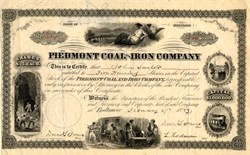 Piedmont Coal and Iron Company - Maryland 1889