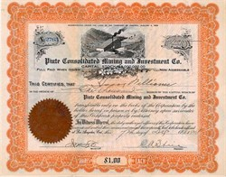 Piute Consolidated Mining and Investment Co. - Kern County, California - Incorporated in Territory of Arizona 1908
