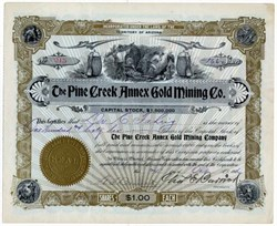 Pine Creek Annex Gold Mining Co. - Territory of Arizona 1906
