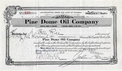Pine Dome Oil Company - Wyoming 1914