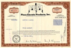 Piezo Electric Products, Inc. - Delaware 1983