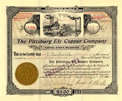 Pittsburg Ely Copper Company - White Pine. Ely, Nevada 1910