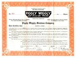 Piggly Wiggly Montana Company 1925