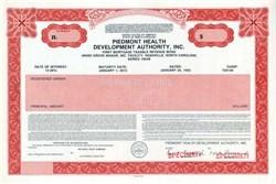 Piedmont Health Development Authority, Inc. - North Carolina 1993