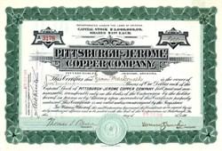 Pittsburgh Jerome Copper Company - Arizona. Yavapai. Verde. 1916