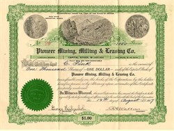 Pioneer Mining, Milling & Leasing Co. - Manhattan, Nevada 1907