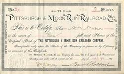 Pittsburgh & Moon Run Railroad Co. - Moon Run, Robinson Twp., Allegheny Co. Pennsylvania 1903