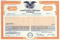 Piedmont Municipal Power Agency Electric Revenue Bond - South Carolina - 2001