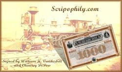Pine Creek Railway Company signed by William K. Vanderbilt - 1885
