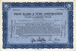 Pilot Radio & Tube Corporation - Delaware 1933
