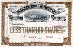 Pittsburgh, Allegheny and Manchester Traction Company 1890's