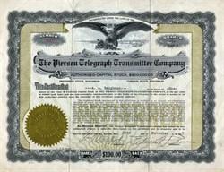 Piersen Telegraph Transmitter Company - Topeka, Kansas 1917