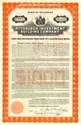 Pittsburgh Investment Building Co. Gold Bond signed by John S. Hershey 1930