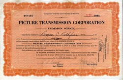 Picture Transmission Corporation (Early Television Company)  - Delaware 1928