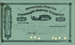 Pittsburgh & West End Passenger Railway Company 1891